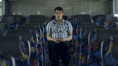 Thomas Banks rides the bus in Quest for Love.
