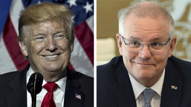US President Donald Trump and Prime Minister Scott Morrison.