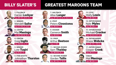 Billy Slater's greatest Maroons team.