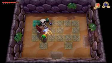 Most of the game scrolls smoothly, but parts of the dungeons go back to square, static rooms to maintain the original puzzles.