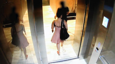 Ms Baker was seen leaving the hotel in a pink dress on Thursday, January 3.