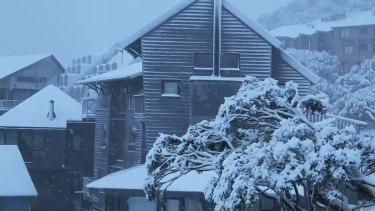 Snow fell on Mt Hotham on Thursday.