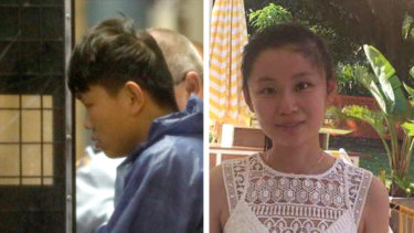 The family of Qi Yu (right) claim her killer, Shuo Dong (left) murdered her to avoid returning to China.