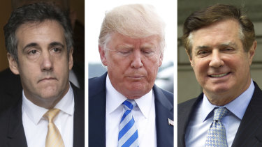 Donald Trump's personal lawyer, Michael Cohen, implicated him in a crime at almost the same time his former campaign chairman, Paul Manafort, became a convicted felon.