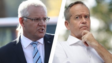 Scott Morrison and Bill Shorten: the overall economic agendas of the two parties are starkly at odds.