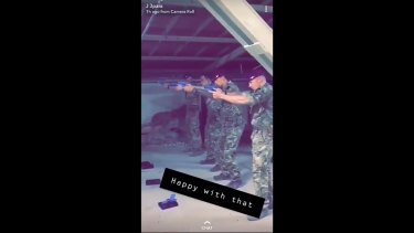 The footage of British soldiers was first uploaded to Snapchat then Twitter.