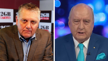 Ray Hadley is waging a war of words with his former 2GB colleague Alan Jones.