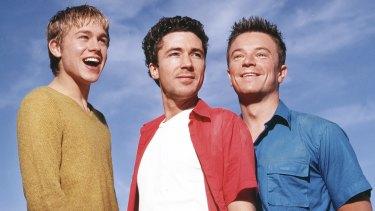 Nathan Maloney (Charlie Hunnam), Stuart Jones (Aidan Gillen), Vince Tyler (Craig Kelly) in Queer as Folk.