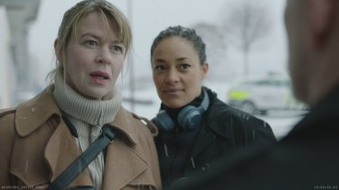 Tone Mostraum (left) plays Victoria Woll, pictured with Iselin Shumba as Ayla Quincy in For Life.
