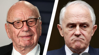Malcolm Turnbull and Rupert Murdoch.