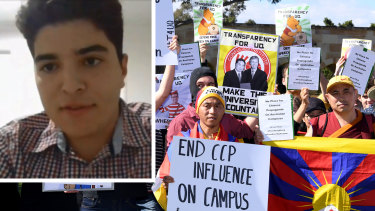 University of Queensland student Drew Pavlou and the July protests on campus against the CCP.