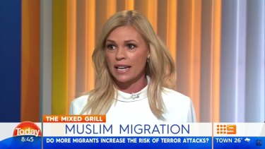 Sonia Kruger called for a ban on Muslim immigration in a controversial Today show segment in July 2016.