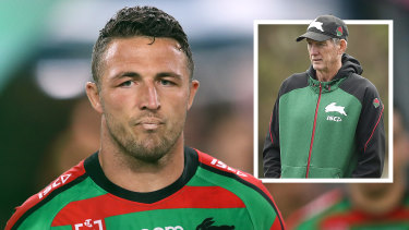 Sam Burgess has stood down from his role as assistant in Wayne Bennett's coaching team at Souths.