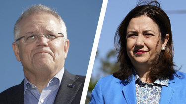 "The Morrison government said it would not allow state border bans to create an ""obstacle"" to allowing flights to and from New Zealand in a new warning to Queensland Premier Annastacia Palaszczuk."
