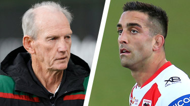 Biosecurity breaches ... Wayne Bennett and Paul Vaughan.