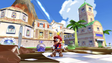 You never get tired of Mario getting covered in goo, or going for a quick spin or a dip in the ocean to make him clean again.