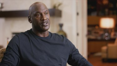 Michael Jordan in a scene from 'The Last Dance' documentary.
