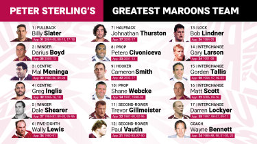 Peter Sterling's greatest ever Maroons team.