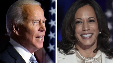 "Joe Biden and Kamala Harris were chosen by Time's editors for ""changing the American story""."