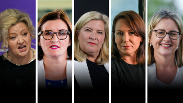 Jill Hennessy, Sarah Mitchell, Bronnie Taylor, Jaclyn Symes and Jacinta Allan are among the women in parliaments helping change their culture.