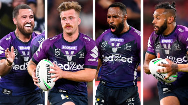 Kenny Bromwich, Cameron Munster, Justin Olam and Josh Addo-Carr will be a handful for the Panthers on Sunday.