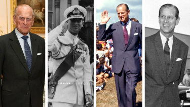 Prince Philip over the years.