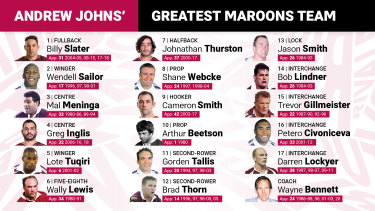 Andrew Johns' greatest Queensland team.