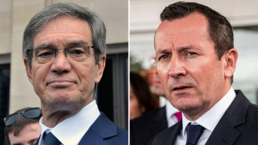 Opposition Leader Mike Nahan and Premier Mark McGowan have traded blows in parliament over the $136 million contract awarded to controversial Chinese telco Huawei.