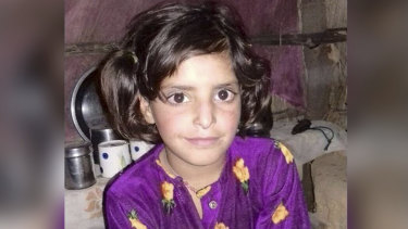 Asifa Bano, 8, who was raped and murdered in India.