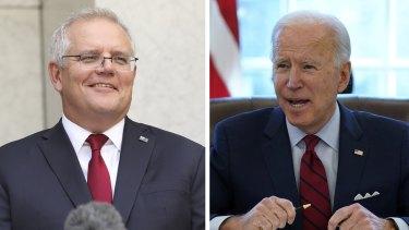 Prime Minister Scott Morrison has spoken with US President Joe Biden.