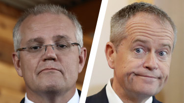 Where is the contest of ideas? Scott Morrison and Bill Shorten.