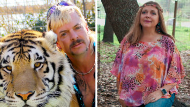 A federal judge has awarded ownership of the Joe Exotic's zoo to his chief rival Carole Baskin.