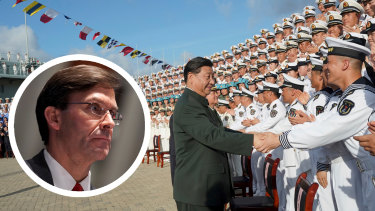 US Defence Secretary Mark Esper delivered a blunt warning about China's ambitions in the South China Sea.