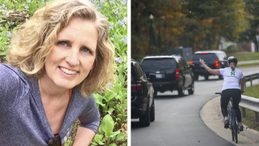 Juli Briskman lost her government two years ago job after a picture of her gesturing at Trump's motorcade set off a social media storm.