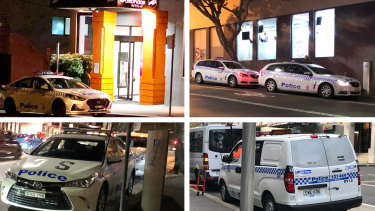 Police cars parked in civilian spots in Surry Hills despite the local station with dedicated off-street and on-street located around the corner.