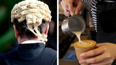 Is your barista a former barrister?