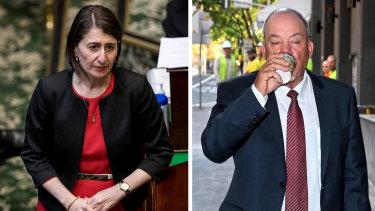 Premier Gladys Berejiklian and Daryl Maguire.