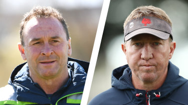 Ricky Stuart (left) and Trent Robinson have different approaches, but both have proven successful.