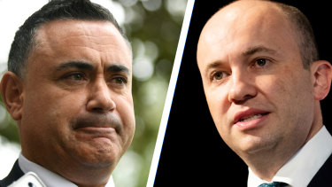 NSW Nationals leader John Barilaro and NSW Environment Minister Matt Kean have clashed over bushfire policy.