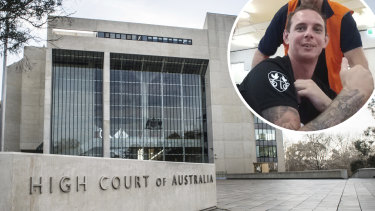 High Court of Australia. Inset, Indigenous man Brendan Thoms, whose case was at the centre of last week's ruling.