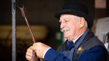 Whip maker Robin Wills.