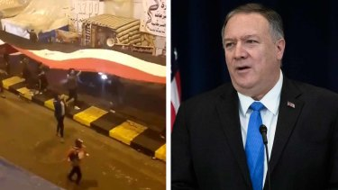 Witnesses say a video posted by the US Secretary of State Mike Pompeo was exaggerated.