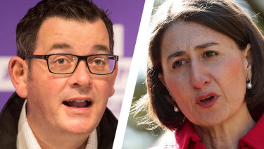 Premiers Dan Andrews and Gladys Berejiklian.