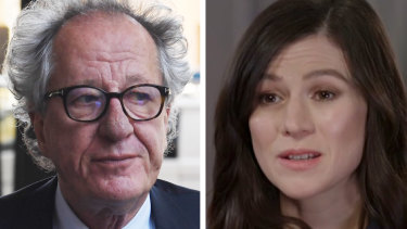 Geoffrey Rush and Yael Stone worked together in 2011 on 'Diary of a Madman'.