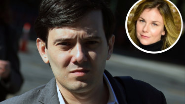 MartinShkreli, former chief executive officer ofTuringPharmaceuticals. Inset is Christie Smythe's Twitter profile picture.