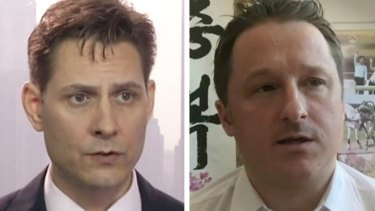 Captive in China: Canadian nationals Michael Kovrig and Michael Spavor.