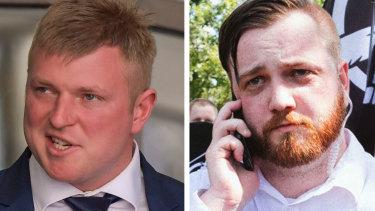 Blair Cottrell (left) denies receiving money from US white supremacist Elliott Kline (right), contrary to claims Mr Kline made online.