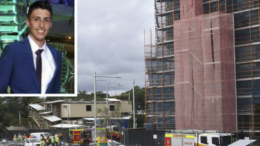 Christopher Cassaniti, 18, died after scaffolding collapsed at a Macquarie Park in April 2019.