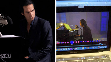 Nick Cave's online streaming concert event was hit by technical hiccups on Thursday night.