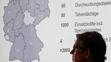 In September, special police units raided hundreds of places across Germany, shown on the map, linked to an ongoing investigation that started last year in the city of Bergisch Gladbach.